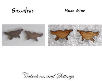 Platypus Choose from Two Tasmanian Native Timbers  Laser Cut Cabochons - MADE IN AUSTRALIA