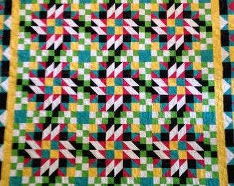 Bright multi-colored quilt