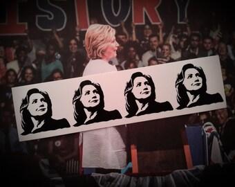 "Hillary Clinton 4 Hillz 1.5"" x 5.5"" Vinyl Sticker Still With Her"