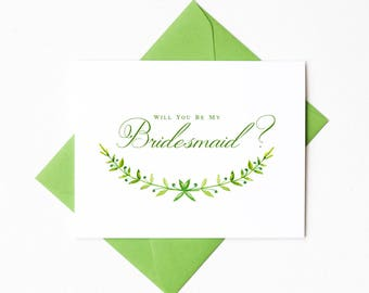 Will You Be My Bridesmaid Proposal Card | Will You Be My Maid of Honor Card | Bridesmaid Invitation | Bridal Party Card | Style #LGW2171