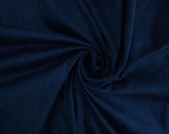 "Navy Blue 100% dupioni silk fabric yardage By the Yard 45"" wide"