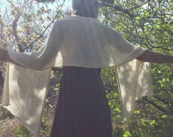 Made to order-Sun shawl, summer shawl, natural unbleached cotton