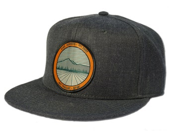 Tallac Mountain Snapback Hat - Heather Black