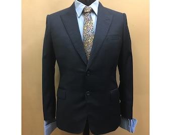 Savile Row Bespoke Tailoring Pinstripe Navy Smart Jacket- Never Worn