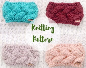 KNITTING PATTERN / / The Braided Crown Cable Knit Headband / / Knitting Pattern for Beginners, Headband Knitting Pattern, Cable Knitting