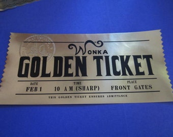 Chocolate Factory Golden Ticket Custom Prop Replica (modern)