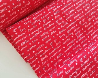 A Little Sweetness - Sweetness Text(Red) - Tasha Noel - Riley Blake Designs