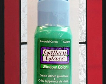 Gallery Glass Paint 16009 - 2 oz Emerald Green ~ Create Stained Glass Look