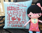 "Pillow 14"" Breckenridge Colorado Custom Drawn Art ..."
