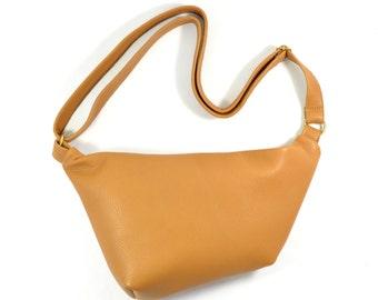 Emilie - Tan Brown Leather Shoulder Bag Handmade AW17