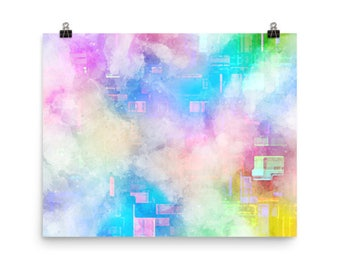 Mashup Fusion Colours Glossy New Photo Paper Poster