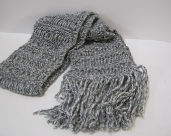 Chunky Gray Scarf Long Winter Accessories Ribbon Scarf Winter Scarves Woman Teen Gift Idea