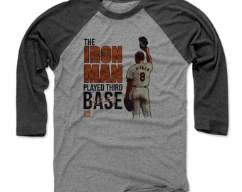 Cal Ripken Jr. Shirt | Baltimore Baseball | Men's Raglan Baseball T Shirt | Cal Ripken Jr. Ironman O