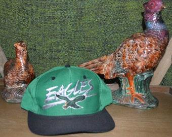 Vintage 1990's Philadelphia Eagles NFL Football AJD Snapback Hat!