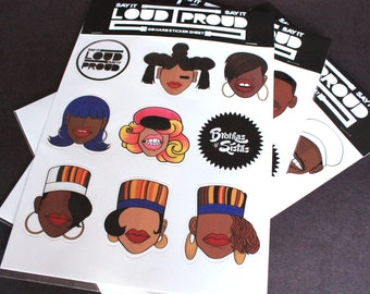 Hip Hop Sticker Sheet ( Female Greats 3)