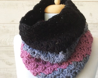Knit cowl, scarf, knit cowl, infinity scarf, knit cowl scarf / Many Colors / FAST DELIVERY