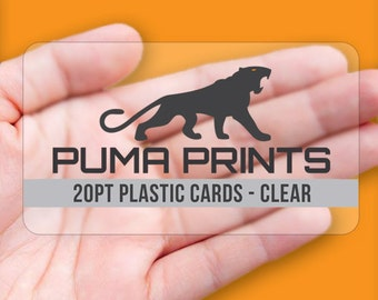 Clear Plastic Business Cards - Full Color, Clear 20pt Plastic, w/Rounded Corners