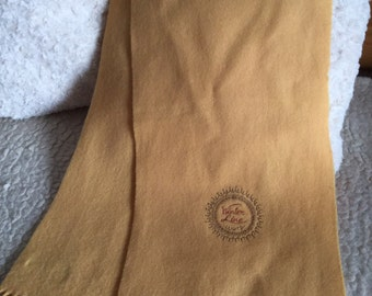 Vintage  egg yellow wool scarf Made in Finland