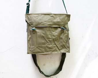 Vintage Military Canvas Army Bag Soviet Unused USSR Cold War Collectible, Army Bag, Crossbody Bag,  Gas Mask bag, ohtteam