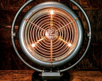 "Upcycled ""De Luxe"" Space Heater Lamp - Industrial Lighting Home Decor"