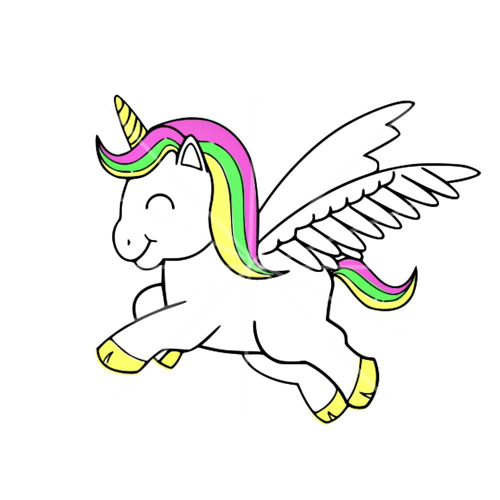 SVG Colorful Unicorn Summer Summer Colors Unicorn