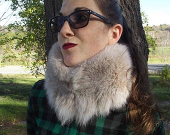 Scarf-fox fur collar