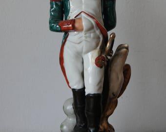 Porcelain Figurine Statue of Napoleon Bonaparte Vintage Porcelain Handpainted