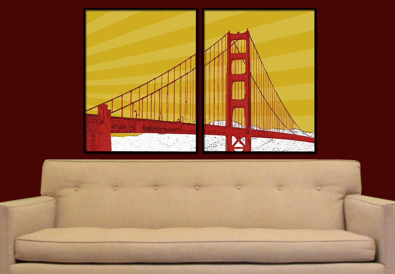 Attractive Wall Art San Francisco Illustration - Wall Art ...