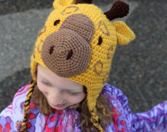 Crochet Pattern - Acacia the Giraffe Crochet Hat