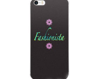 Trendy Fashionista iPhone Case with Flower