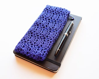 Back To School Gift, Crochet Pencil Case, Slim Pencil Bag, Pencil Storage Case, Zippered Crochet Bag for Pencils, Teacher Gift CUSTOM COLORS