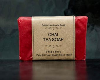 3 x Vegan Handmade Natural CHAI Tea Soap Palm oil Free Cruelty Free by chaaboo