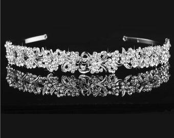 1-Tages-Verarbeitung, Schiff von GA-schöne elegante Strass Bling Tiara Genickstück Haar Stück Braut Braut Kopfschmuck Krone