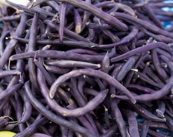 Royal Burgundy Bush Bean 25+ seeds - heirloom seeds - vegetable seeds - garden seeds - bush bean seeds - purple bean seeds