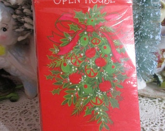 Vintage Christmas Invitations-1970's-UNUSED-Hallmark-Holly