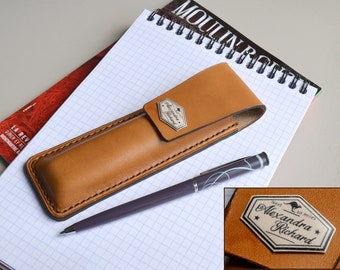 Personalized Pen Case -Genuine Leather-