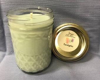 Eucalyptus Soy Candle - Eucalyptus - Soy Candle - Soy - Soy Wax - Candle - Wax - joyscandles