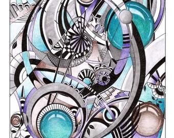 Abstract art, doodle art, zentangle art