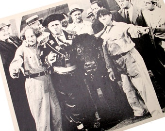 Publicity Photo Larry Curly Moe The Three Stooges Studio Copy Fan Promo