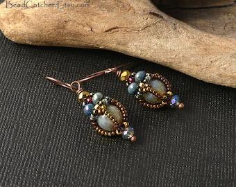 Victorian Beadwoven earrings