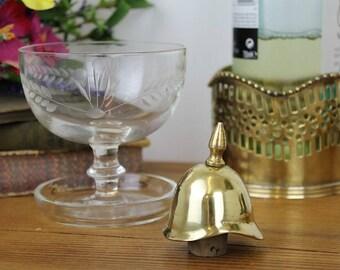 Vintage Bottle Stopper/Brass Pith Helmet Bottle Stopper/Vintage Cork Stopper/Barware/SALE(Ref1962R)