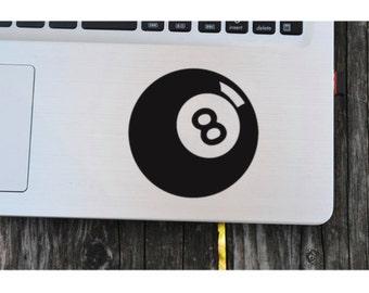 DIY 8 Ball, Billiard Ball, Vinyl Decal, Pool Player, Laptop decal, iPad Decal, Cell Phone, Car Window Decal, Drinkware, Glassware, Frame it