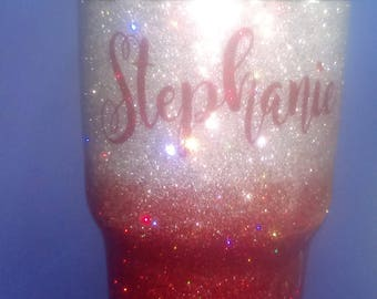 Glitter Stainless Steel Tumbler,Hand Glittered Tumbler,Personalized Glitter Tumbler, Glitter Tumbler,Over 75 Colors of Glitter