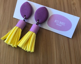 Hello little sunshine tassel earrings