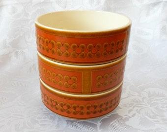 Three Hornsea 'Saffron' Bowls and Plates