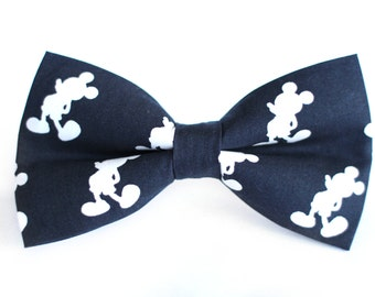 Mickey Bow Tie | Bow Tie for Men | For Him | Bowtie | Self Tie | Dog Bow Tie | Mens Bow Tie | Boys Bow Tie | Wedding Bow Men | Groomsmen
