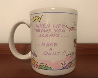 Vintage McCall In Stitches TLC Greetings Quilter Mug Gift Coffee Cup