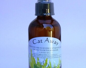Cat Away Spray, Three pack of 4 oz. sample bottles                                      Aromatherapy cat repellent for Furniture Protection
