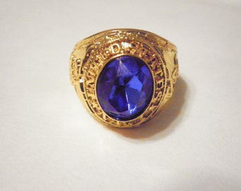 1 Goldplated Navy Ring