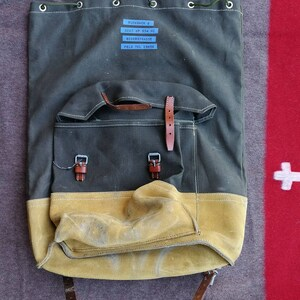 Pioneer Backpack Canvas leather of the Swiss Army stock of 1972-Deadstock Swiss Army